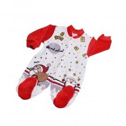 Świąteczny pajac niemowlęcy z długim rękawem 3-6M - MIKOŁAJ