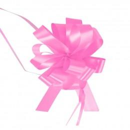 Różowe wstążki ściągane w kokardy do dekoracji weselnych 10 szt