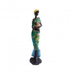 Figurka stojąca Murzynka Masajka z bukłakiem na wodę 37 cm