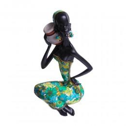 Duża figurka dekoracja siedząca Murzynka Afrykanka z dzbanem