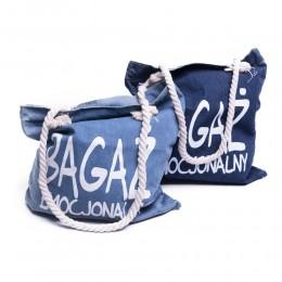 Torba jeansowa z nadrukiem BAGAŻ EMOCJONALNY / torba dżinsowa