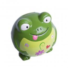 Duża skarbonka ŻABA żabka figurka ceramiczna na prezent
