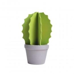 Mały drewniany kaktus w doniczce sztuczny kwiat sukulent 13 cm