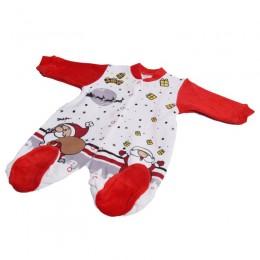 świąteczny pajac niemowlęcy z długim rękawem 6-9m