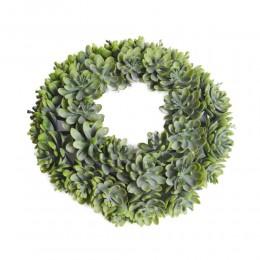 Zielony dekoracyjny wianek sztuczny na drzwi śr. 19 cm