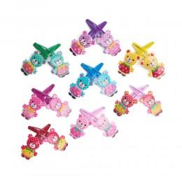 Kolorowe misie spinki do włosów dla dzieci pyki zestaw 2 sztuki