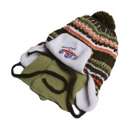 Komplet zimowa czapka i szalik dla chłopca USZATKA