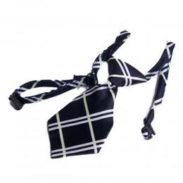 Regulowany krawat dla psa kota na boże narodzenie GRANATOWO BIAŁY