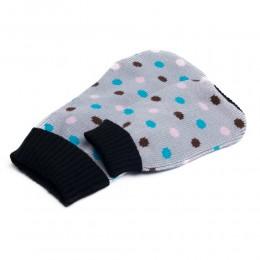 Sweterek golf ubranko dla psa na zimę SZARY W KROPECZKI