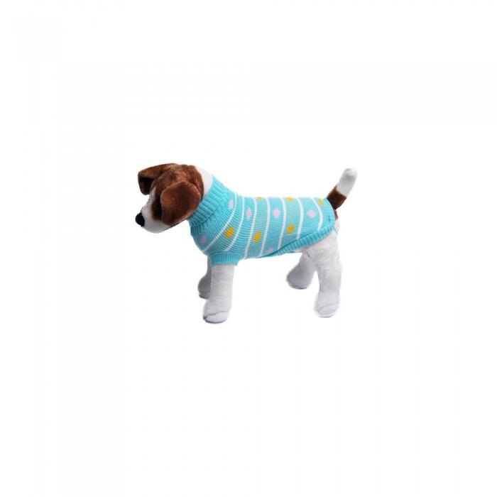 Turkusowy golf sweterek ubranko dla psa na zimę