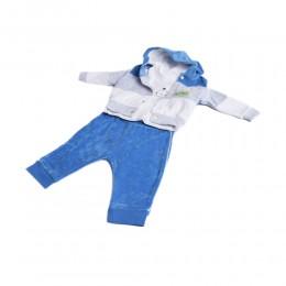 Modny welurowy dresik dres niemowlęcy rozm. 56 niebieski
