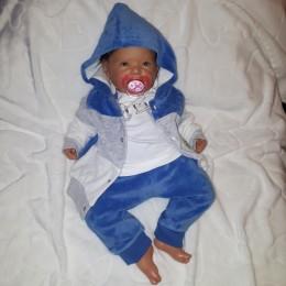 Modny welurowy dresik dres niemowlęcy rozm.68 niebieski