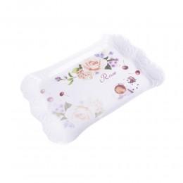 Mała taca śniadaniowa taca kuchenna plastikowa ROSE