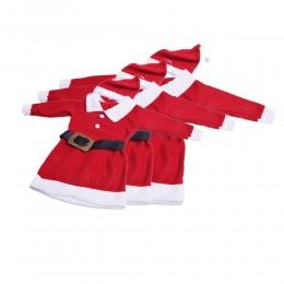 Sukienka dziewczęca MIKOŁAJKA strój małego Świętego Mikołaja