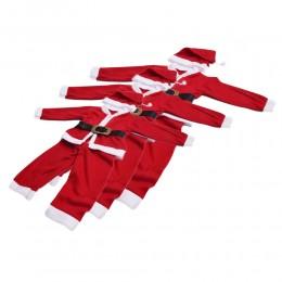 Kostium strój świętego Mikołaja dla dzieci przebranie świąteczne