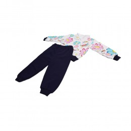 Ciepły dresowy komplet dla dziewczynki dres bluza