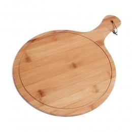 Duża okrągła deska drewniana do krojenia serwowania talerz