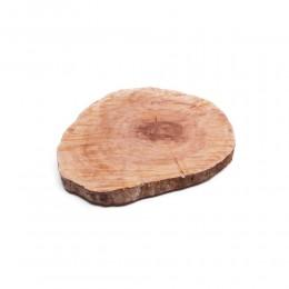 Drewniana deska kuchenna do krojenia / krążek drewniany pień