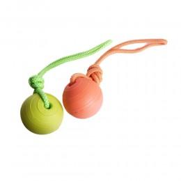 Zabawka dla psa gumowa piłka na sznurku do aportowania