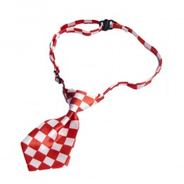Krawat dla psa kota święta wesele krata biało-czerwona obwód szyi 40cm