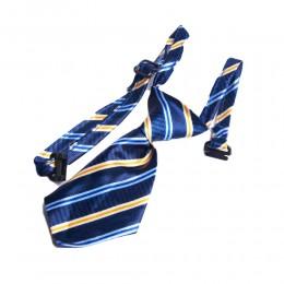 Krawat dla psa kota święta wesele niebieski w paski obwód szyi 40 cm
