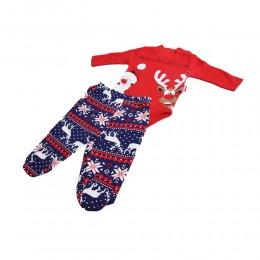 Komplet body długi rękaw + półśpiochy 60 świąteczne boże narodzenie