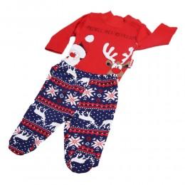 Komplet świąteczny dla niemowlaka 74 body długi rękaw + pół śpiochy