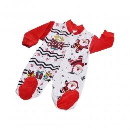 Pajac pajacyk niemowlęcy 0-3 m-ce na święta bożego narodzenia