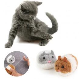 Pluszowa zabawka dla kota chomik mysz wibrująca