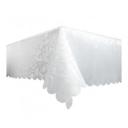 Obrus plamoodporny biały 110x160 cm wzór / obrus bezplamowy