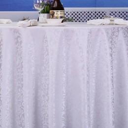 Obrus plamoodporny biały 160x260 cm wzór / obrus bezplamowy