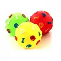 Zabawka dla psa piłka gumowa piszcząca w łapki i kosteczki