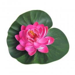 Kwiat nenufar lilia wodna sztuczna do oczka wodnego stawu różowy