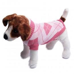 Ciepły jasnoróżowy sweterek dla małego psa na zimę / ubranko dla psa