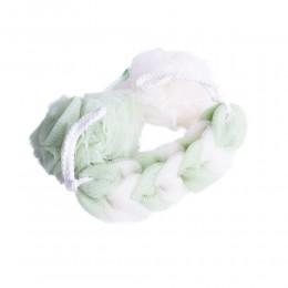 Siateczkowa zielona gąbka myjka kąpielowa do mycia masażu SPA 3 szt.