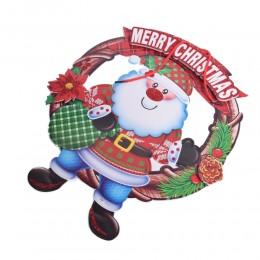Dekoracja 3D ozdoba świąteczna na drzwi okno kominek święty Mikołaj