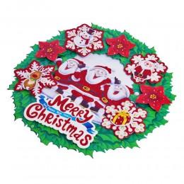 Dekoracja 3D wianek świąteczny na drzwi okno MERRY CHRISTMAS