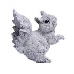 Zimowa ozdoba do domu figurka ośnieżona wiewiórka dekoracja na Boże Narodzenie