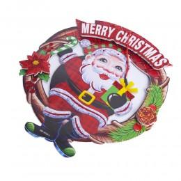 Ozdoba świąteczna na drzwi okno Mikołaj / dekoracje bożonarodzeniowe