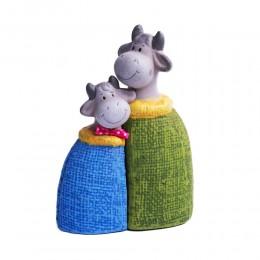 Figurka dekoracyjna krowa / kolorowa figurka krowy do kuchni
