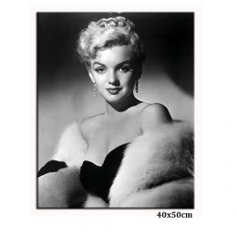 Czarno biała reprodukcja obraz Marilyn Monroe 40x50 cm