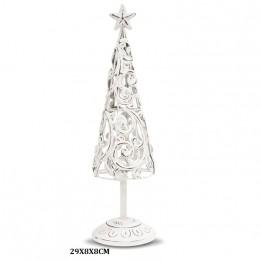 Metalowa choinka ażurowa ozdoba świąteczna wys. 29 cm