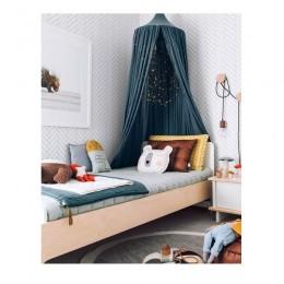 Namiot baldachim dziecięcy nad łóżko dziecka prosty duży turkus