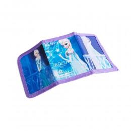Fioletowy portfel portfelik dla dziecka kraina lodu Elza zapiany rzep