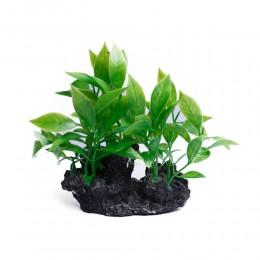 Dekoracja sztuczna roślina do akwarium terrarium na kamieniu