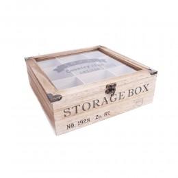Drewniane pudełko na herbatę lub inne drobiazgi country club