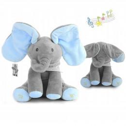 Interaktywny słoń pluszowy słonik śpiewa gra maskotka dla chłopca