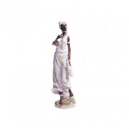 Dekoracje do salonu figurka stojąca MURZYNKA Masajka wys. 34 cm