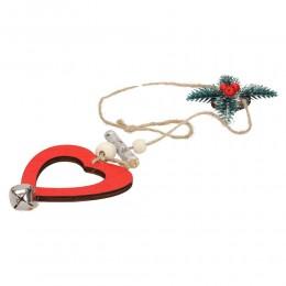 Świąteczna zawieszka na sznurku SERCE