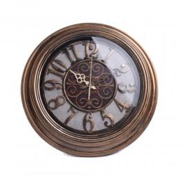 Zegar ścienny duży stare złoto do salonu kuchni przedpokoju